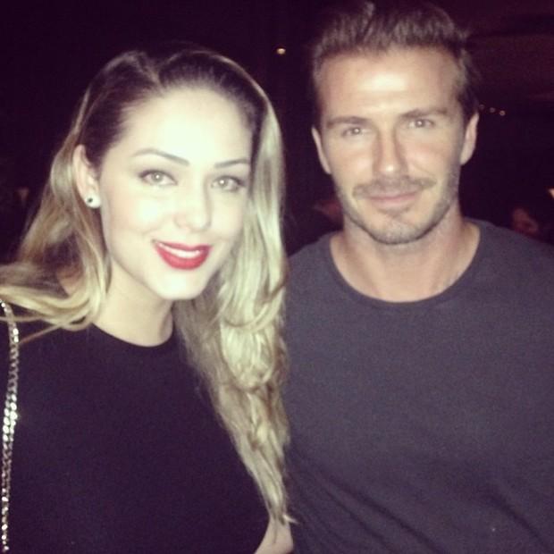 Tânia Mara e David Beckham (Foto: Reprodução do Instagram)
