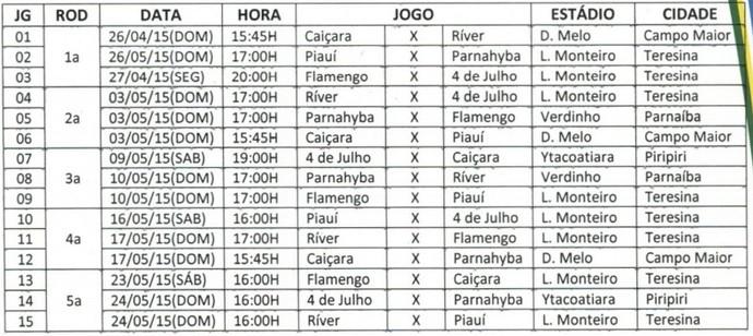 Segundo Turno - Campeonato Piauiense (Foto: Reprodução/FFP)