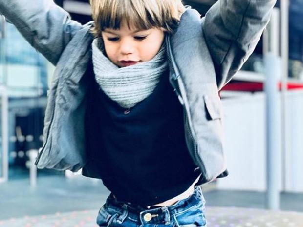 Martin, filho de Joana Balaguer, em Londres (Foto: Reprodução/Instagram)