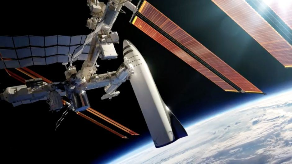 O veículo na ISS (Foto: Divulgação)
