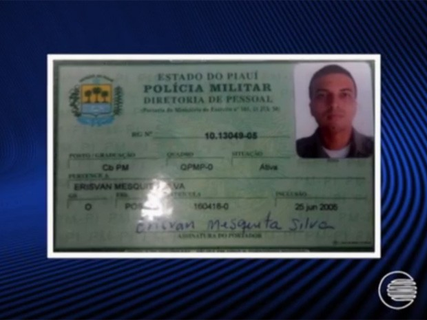 Cabo Erisvan Mesquita, baleado e morto em Teresina (Foto: Reprodução/TV Clube)