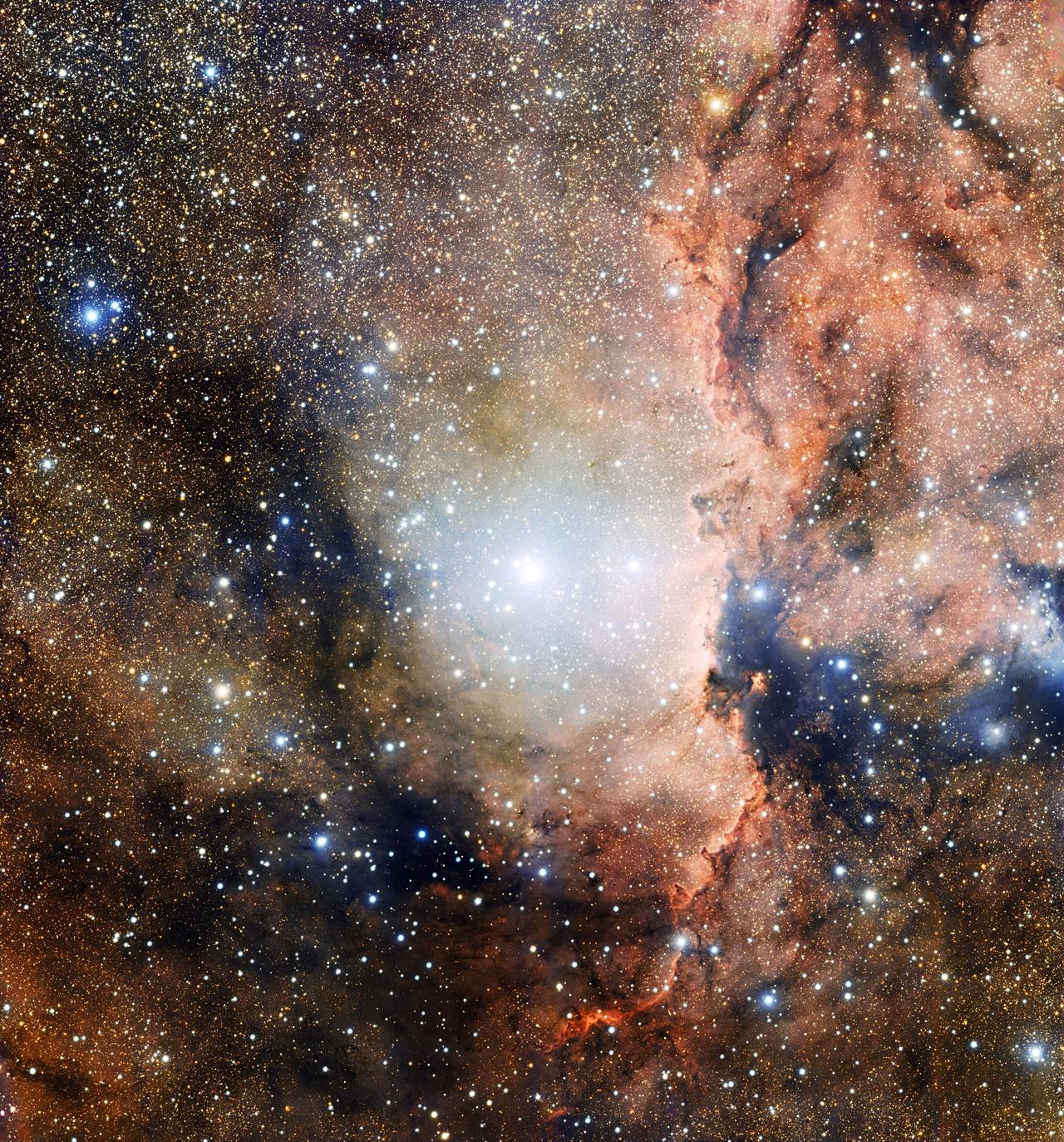 A constelação 'Ara' (Foto: divulgação ESO)