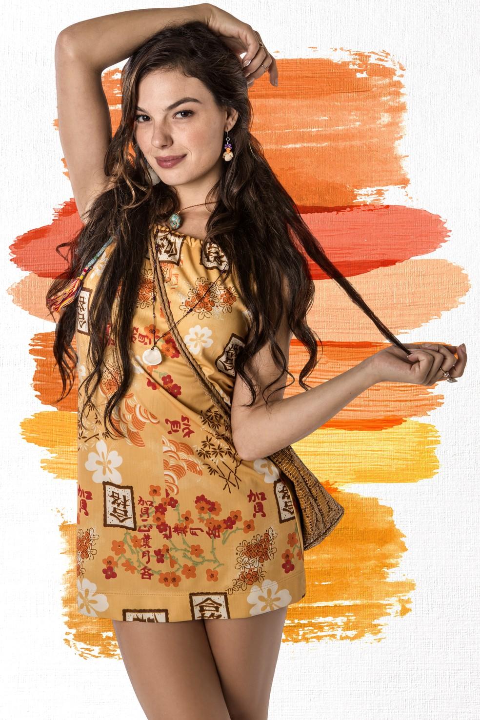 Isis Valverde faz sua estreia como protagonista de uma novela das 9 (Foto: Fábio Rocha (fotografia) e Thays Malcher (arte)/Gshow)