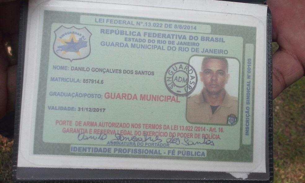 Guarda municipal Danilo Gonçalves foi assassinado em São Cristóvão. (Foto: Reprodução)