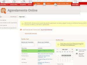 Servulo está diponível no site do Governo de Minas (Foto: Reprodução/www.mg.gov.br)