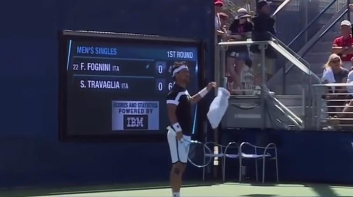 Fognini xinga juíza no US Open e é desclassificado (Foto: Reprodução )