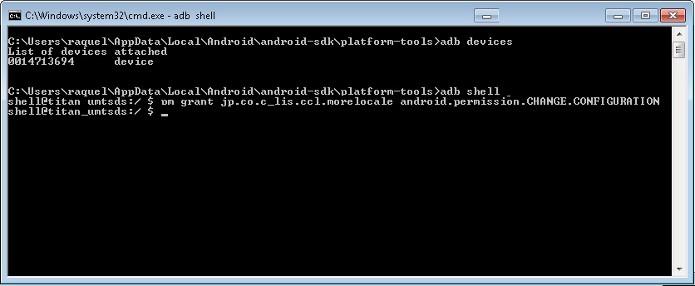 Comando final para configuração do MoreLocate 2 no Android (Foto: Reprodução/Raquel Freire)