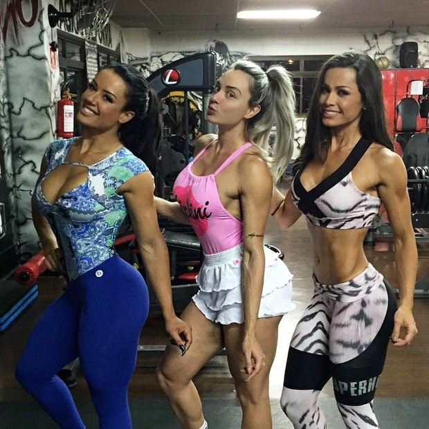 Sue Lasmar, Juju Salimeni e Fernanda D'Ávila malham juntas (Foto: Instagram/ Reprodução)