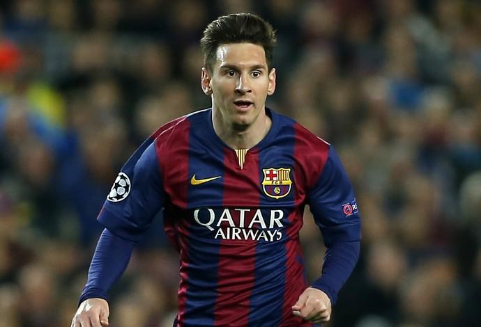 Messi Barcelona x City (Foto: AP)