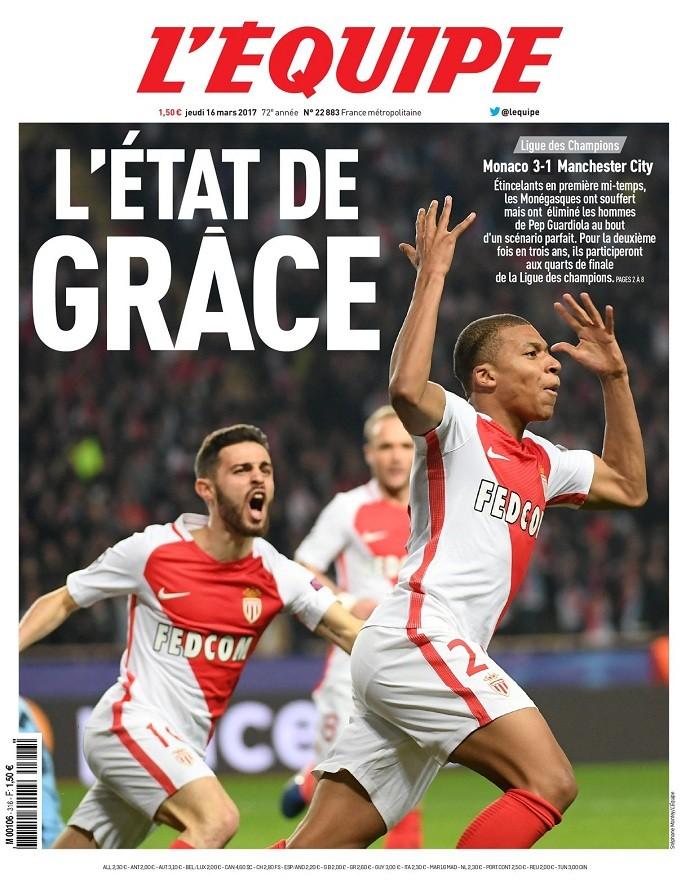 """BLOG: Jornais de França e Inglaterra: Monaco em """"estado de graça"""" e as caras de Pep"""