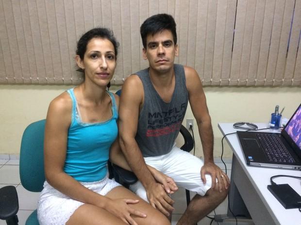 O casal é de Santa Catarina e veio para a capital potiguar passar a lua de mel (Foto: Kléber Teixeira/Inter TV Cabugi)