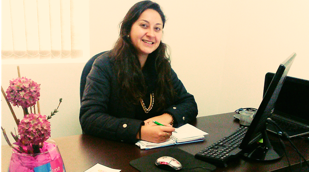 Tatiana Oliveira comanda a Emdime de seu escritório em Alegrete, no Rio Grande do Sul (Foto: Divulgação/Emdime)