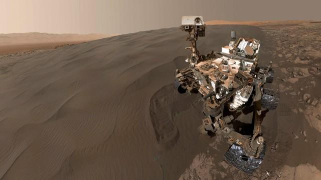Vídeo captado pelo jipe mostra vista de Marte em 360 graus (Foto: Nasa/BBC)