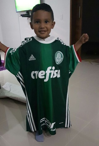 Samuel Borja, filho de Miguel Borja, reforço do Palmeiras (Foto: arquivo pessoal)