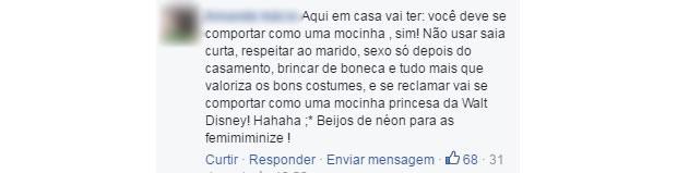 comentario machista 4 (Foto: Reprodução/ Facebook)