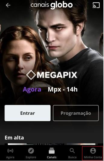 Minha Conta App - Canais Globo (Foto: Canais Globo)