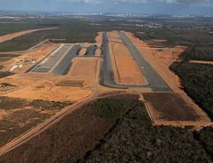 Construção do Aeroporto de São Gonçalo caminha a passos lentos (Foto: Canindé Soares/Cedida)