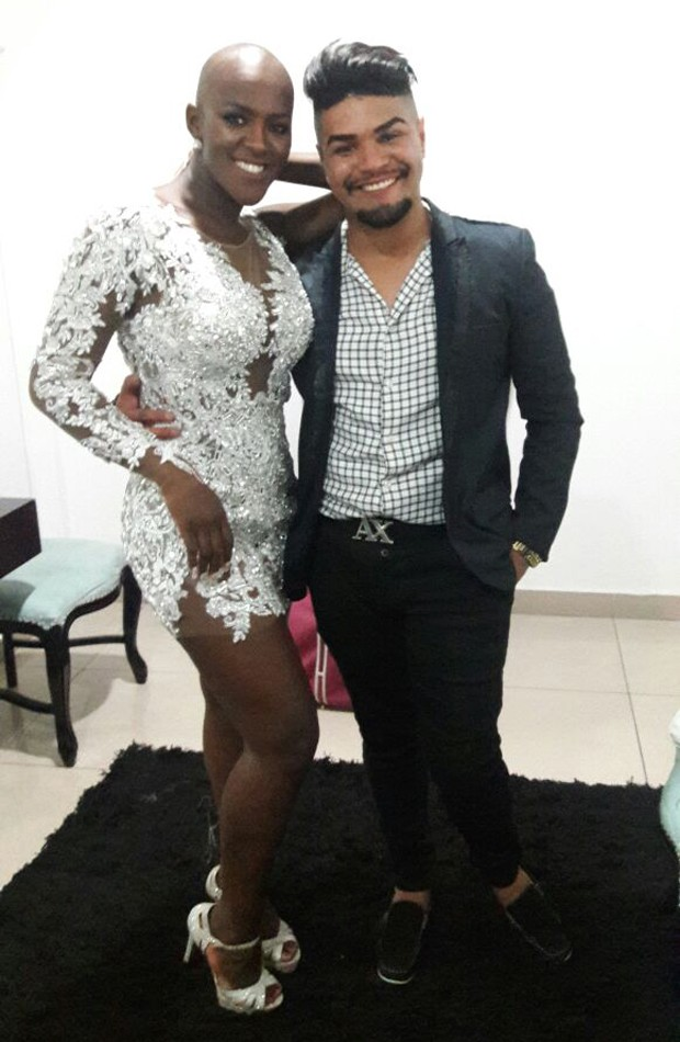 Angélica Ramos e o estilista Felipe Bessa (Foto: Divulgação)
