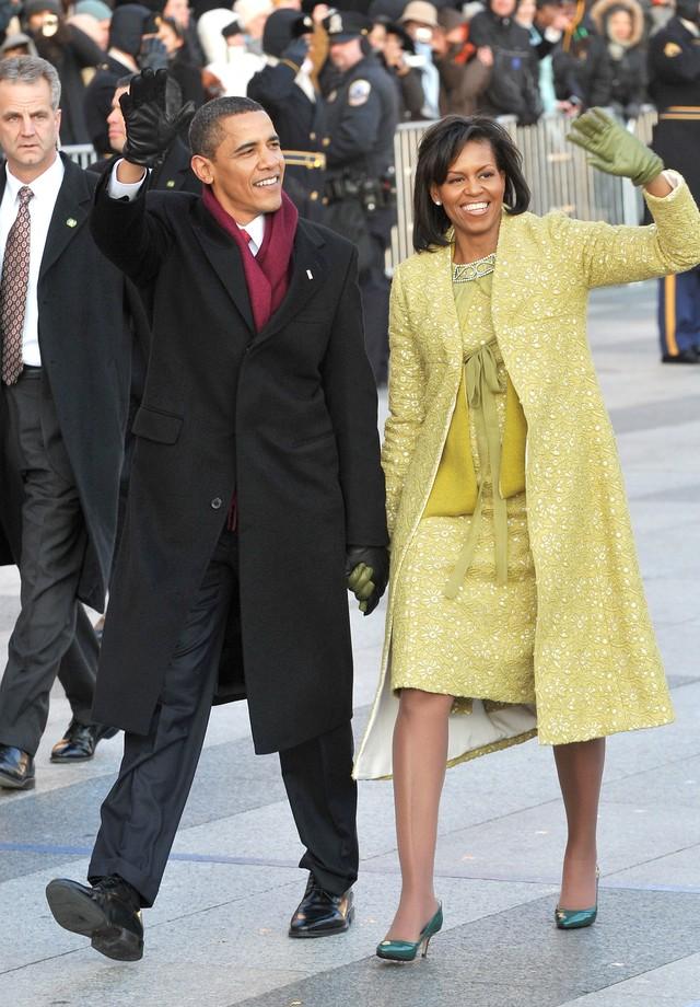 Michelle Obama em 2009, na inauguração do primeiro mandato de Barack Obama (Foto: Getty Images)