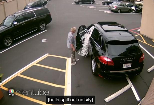 Comediante e apresentadora Ellen Degeneres foi alvo de brincadeira (Foto: Reprodução/YouTube/TheEllenShow)