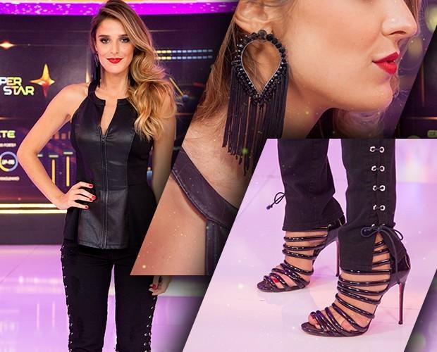 Rafa Brites usa look sensual com calça justinha (Foto: Isabella Pinheiro/Gshow)