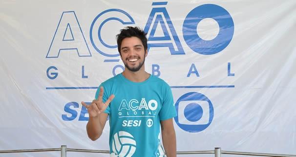 O ator Rodrigo Simas deu um brilho especial no evento. (Foto: Alex Malheiros)