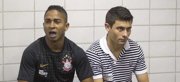 Jorge Henrique e Alex, nos tempos de Corinthians (Foto: Daniel Augusto Jr / Agência Corinthians)