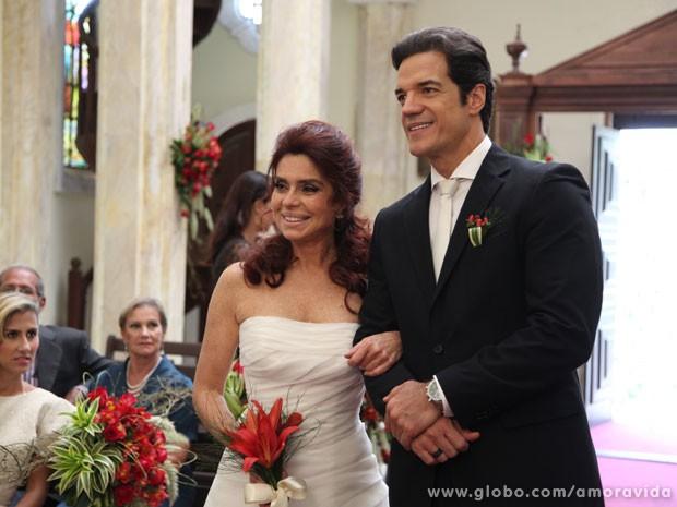 Gigi e Ignácio no altar (Foto: Carol Caminha / TV Globo)
