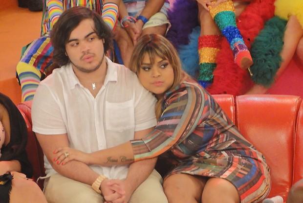 Preta e Francisco durante a gravação do Esquenta (Foto: Esquenta!/ TV Globo)