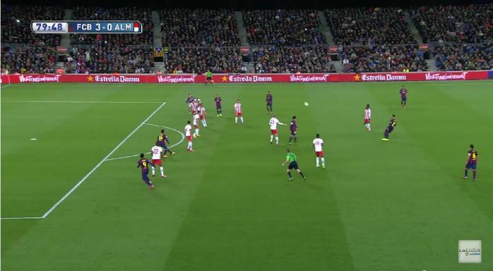 Messi falta gol anulado Barcelona