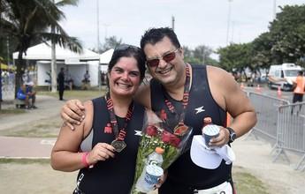 Casal supera câncer e próprios limites e festeja renascimento no Rio Triathlon