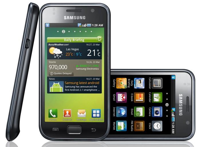 Galaxy S vem com câmera traseira de 5 megapixels e frontal VG (Foto: Divulgação/Samsung)