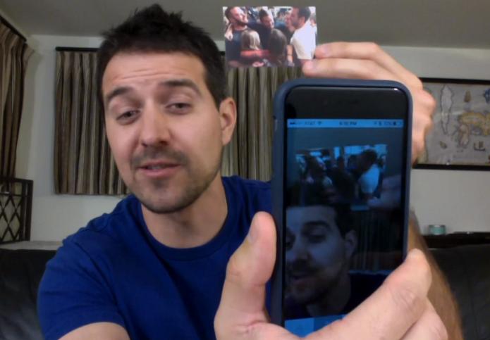 Usando app, é possível ver os vídeos escondidos nas fotos (Foto: Divulgação/LifePrint)