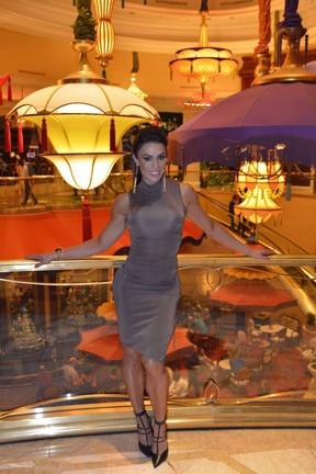 Gracyanne Barbosa posa em hotel em Las Vegas, nos Estados Unidos (Foto: R2assessoria/ Divulgação)
