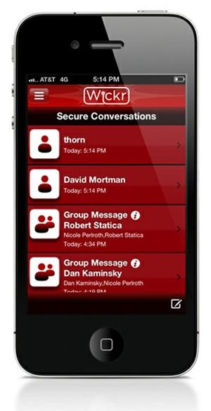 Wickr; Aplicativo promete segurança máxima em mensagens via celular. (Foto: Divulgação)