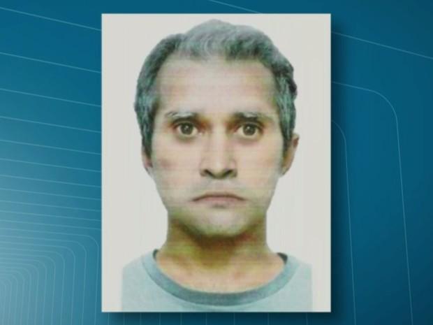 Retrato digital divulgado pela polícia mostra suspeito de ataque com seringa em ônibus (Foto: Reprodução/TV Globo)