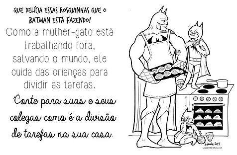 O material do curso traz super-heróis e princesas do imaginário infantil (Foto: Divulgação)