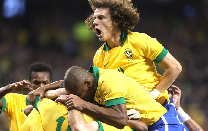 Comemoração do Brasil contra o Chile (Foto: Mowa Press)