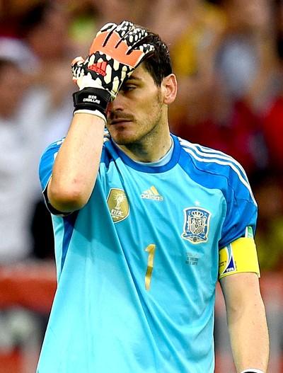 Iker Casillas jogo Espanha x Chile (Foto: Getty Images)