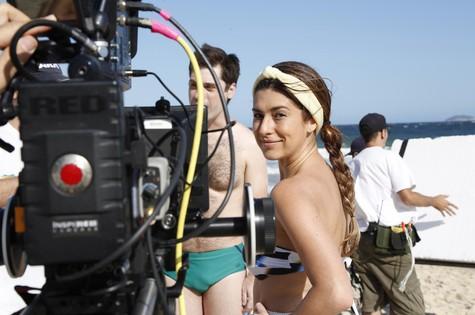 Fernanda Paes Leme no set de 'Amor veríssimo' (Foto: Camilla Maia)