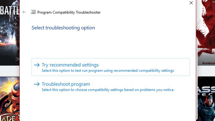Se o Dragon Age: Inquisition não abrir no PC, mude a compatibilidade do programa (Foto: Reprodução/Tais Carvalho)
