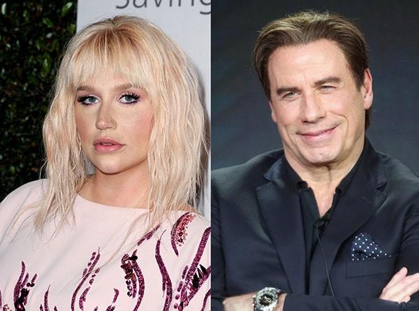 Ke$ha e John Travolta (Foto: Getty Images)
