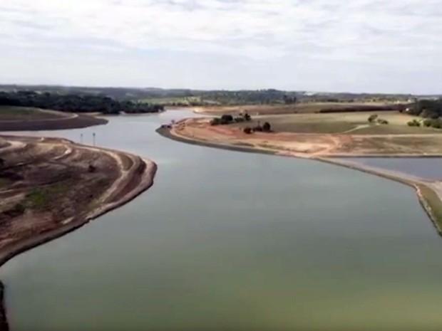 O reservatório do Rio Capivari-Mirim, em Indaiatuba (Foto: Reprodução EPTV)