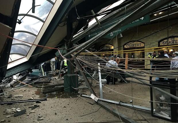 Acidente de trem em Hoboken, no estado norte-americano de Nova Jersey (Foto: Pancho Bernasconi/Getty Images)
