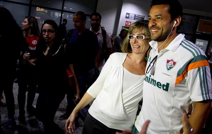 Desembarque fluminense - fred (Foto: Nelson Perez / Fluminense FC)