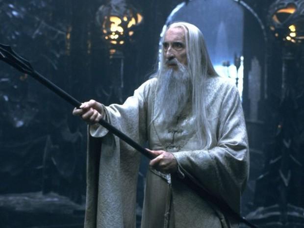 Christopher Lee como o vilão saruman, de 'Senhor dos aneis' (Foto: Divulgação)