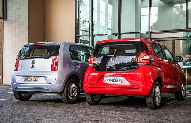 Comparativo: Fiat Mobi e Volkswagen up! (Foto: Renato Durães)