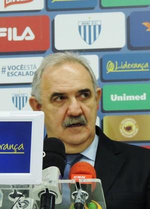 Nilton Macedo Machado Avaí presidente (Foto: Diego Madruga)