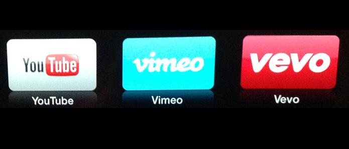 YouTube, Vimeo e VEVO também estão na Apple TV (Foto: Divulgação/ Apple)