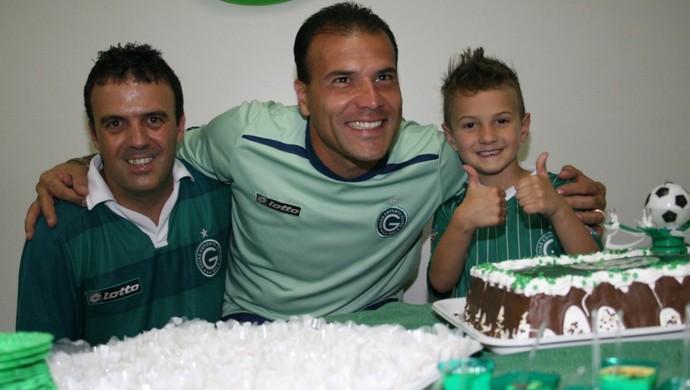 Harlei, Márcio, e Emanuel (Foto: Divulgação/Goiás E.C.)